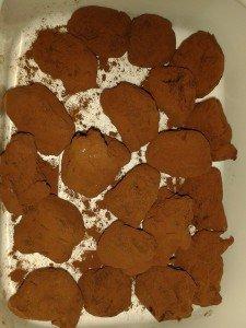 truffes chocolat/menthe